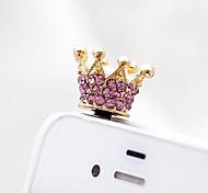 Недорогие -Пылезащитная заглушка Подвеска на сумку / телефон / брелокй Стиль кристалла / горного хрусталя металл Мобильный телефон Samsung Huawei