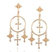 cheap -Women's Oversized Drop Earrings - Classic Oversized Cross For Daily