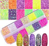 Недорогие -1 комплект Роскошь Элегантный и роскошный Bling Bling Гель для ногтей Порошок блеска Пайетки Советы для ногтей Дизайн ногтей