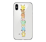 cheap -Case For Apple iPhone X iPhone 8 Transparent Pattern Back Cover Cartoon Soft TPU for iPhone X iPhone 8 Plus iPhone 8 iPhone 7 Plus iPhone