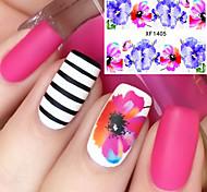 Недорогие -1 Наклейка для ногтей Цветы Мода Повседневные Высокое качество