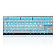 Недорогие -ajazz-ak40 игра механическая клавиша клавиша синяя ось черная ось 87 ключевых игроков битвы битвы победить