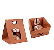 Недорогие -Кошка Кровати Животные Подкладки Однотонный Серый Коричневый Для домашних животных