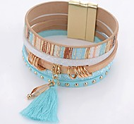 cheap -Women's Wrap Bracelet Crystal Simple Fashion Crystal Leather Alloy Drop Jewelry Daily