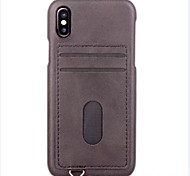 cheap -Case For Apple iPhone X iPhone 8 iPhone 8 Plus iPhone 6 iPhone 7 Plus iPhone 7 Card Holder Back Cover Solid Color Hard PU Leather for