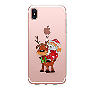 For iPhone X iPhone 8 iPhone 7 iPhone 6 iPhone 5 Case Case Cover Transparent Pattern Back Cover Case Christmas Soft TPU for Apple iPhone