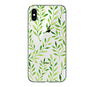 cheap -Case For Apple iPhone X iPhone 8 Transparent Pattern Back Cover Tree Soft TPU for iPhone X iPhone 8 Plus iPhone 8 iPhone 7 Plus iPhone 7