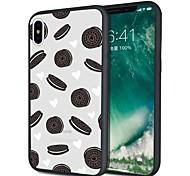Недорогие -Кейс для Назначение Apple iPhone X iPhone 8 Plus С узором Кейс на заднюю панель Продукты питания Мягкий ТПУ для iPhone X iPhone 8 Pluss
