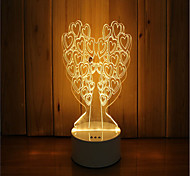1 Set Of 3D Mood Night Light Hand Feeling Dimmable USB Powered Gift Lamp Tree