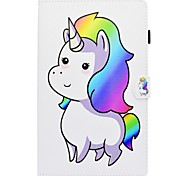 cheap -Case For Samsung Galaxy Tab A 8.0 Tab S2 9.7 Tab S2 9.7 Tab A 10.1 (2016) Card Holder with Stand Flip Pattern Full Body Cases Unicorn Hard