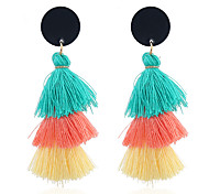cheap -Women's Tassel Bohemian Colorful Drop Earrings Dangle Earrings - Tassel Bohemian Colorful Circle For Party Gift