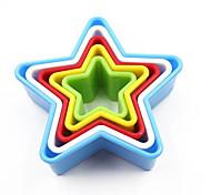 Недорогие -5 шт / комплект 5 размеров пентаграмма для выпечки плесень пластиковые печенья пресс-формы кухонные инструменты выпечка