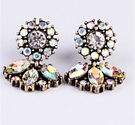 cheap -Women's Lovely Flower Synthetic Diamond / Rhinestone Imitation Diamond Drop Earrings - Fashion White Geometric Earrings For Going out /