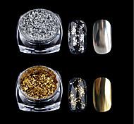 Недорогие -1 pcs порошок / Порошок блеска / Гель для ногтей Классика Дизайн ногтей Повседневные