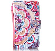 cheap -Case For iTouch 5/6 Card Holder Pattern Auto Sleep/Wake Up Full Body Cases Hard