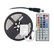 cheap -ZDM® 300 LEDs 5M String Light 1 44Keys Remote Controller RGB Cuttable DC 12V