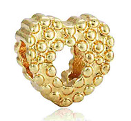 cheap -DIY Jewelry 1 pcs Beads Alloy Gold Silver Heart Bead 0.2 cm DIY Necklace Bracelet