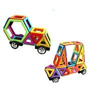 Недорогие -Магнитный конструктор Игрушки Грузовик Строительная техника Игрушки Круглый Квадратный Автомобиль Взаимодействие родителей и детей Для
