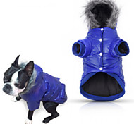 cheap -Dog Coat Hoodie Pajamas Puffer / Down Jacket Dog Clothes Casual/Daily Solid Gray Purple Blue Pink Costume For Pets