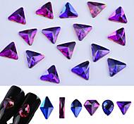Недорогие -Блеск Роскошь Элегантный и роскошный Случайный цвет Дизайн ногтей