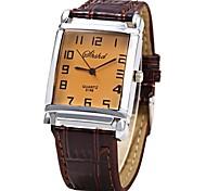 preiswerte -JUBAOLI Herrn Damen Quartz Armbanduhr Chinesisch Armbanduhren für den Alltag Leder Band Cool Braun