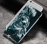 Недорогие -Кейс для Назначение Apple iPhone X iPhone 8 Ультратонкий С узором Задняя крышка Животное Мягкий TPU для iPhone X iPhone 8 Pluss iPhone 8