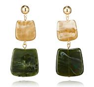 cheap -Women's Drop Earrings - Simple Fashion European Dark Green Geometric Earrings For Causal