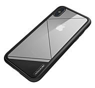 Недорогие -Кейс для Назначение Apple iPhone X Защита от удара Зеркальная поверхность Кейс на заднюю панель Сплошной цвет Твердый ТПУ для iPhone X
