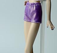 Недорогие -Брюки Шорты, брюки и колготки Для Кукла Барби Лиловый Стреч-сатин Брюки Для Девичий игрушки куклы