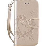 cheap -Case For Apple iPhone 8 iPhone 8 Plus Card Holder Flip Pattern Embossed Heart Glitter Shine Hard for