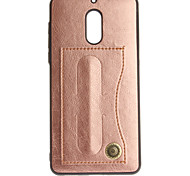 cheap -Case For Nokia Nokia 6 Nokia 3 Card Holder with Stand Solid Color Hard for