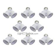 cheap -8Pcs E27 to 2 E27 Bulbs Socket Adapter Bulb Lighting Accessory