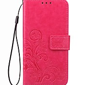 cheap -Case For OPPO Oppo R9s Oppo R11s Card Holder Wallet with Stand Flip Solid Color Hard PU Leather for