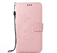 baratos -Capinha Para Apple iPhone X iPhone 8 Porta-Cartão Carteira Com Suporte Capa Proteção Completa Flor Rígida PU Leather para iPhone X iPhone