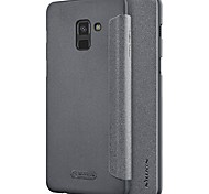 cheap -Case For Samsung Galaxy A8 2018 A8 Plus 2018 Flip Frosted Solid Color Hard for