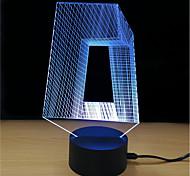 Недорогие -1 комплект LED Night Light Сенсорный 7-Color Работает от USB Стресс и тревога помощи Декоративный свет С портом USB Меняет цвета