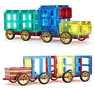 Недорогие -Магнитный конструктор Игрушки Автомобиль Транспорт трансформируемый Мягкие пластиковые 60 Куски