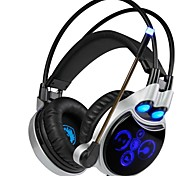 cheap -SADES R8 Headband Wired Headphones Dynamic Plastic Gaming Earphone with Microphone Headset