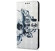 Недорогие -Кейс для Назначение Huawei Mate 10 pro Mate 10 lite Бумажник для карт Кошелек со стендом Флип Магнитный С узором Чехол Черепа Твердый