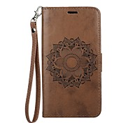 cheap -Case For Samsung Galaxy J5 (2017) J3 (2017) Card Holder Wallet with Stand Flip Embossed Full Body Cases Mandala Hard PU Leather for J5