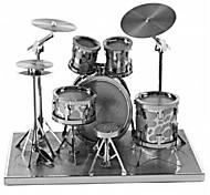 Недорогие -3D пазлы Металлические пазлы Круглый Барабанная установка Джазовый барабан Взаимодействие родителей и детей Ручная работа утонченный