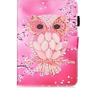 cheap -Case For Samsung Galaxy Tab S2 9.7 Card Holder Wallet with Stand Pattern Auto Sleep/Wake Up Full Body Cases Owl Hard PU Leather for Tab
