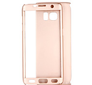cheap -Case For Samsung Galaxy S8 S7 Shockproof Full Body Cases Solid Color Hard PC for S8 Plus S8 S7 edge S7 S6 edge plus S6 edge S6