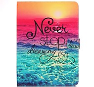 cheap -Case For Samsung Galaxy Tab S2 9.7 Card Holder Wallet with Stand Pattern Auto Sleep/Wake Up Full Body Cases Word / Phrase Hard PU Leather