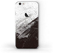 Недорогие -1 ед. Наклейки для Защита от царапин Черный и белый Узор PVC iPhone 6s/6