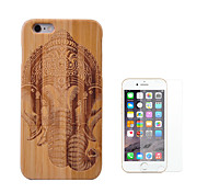 cheap -Case For Apple iPhone 6 Plus Shockproof Full Body Cases Animal Hard Bamboo for iPhone 6s Plus iPhone 6 Plus
