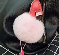 Недорогие -Подвеска на сумку / телефон / брелокй Меховой шар Искусственный мех Мобильный телефон Samsung Huawei Xiaomi Sony Xperia iPhone 8 Plus / 7