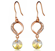 cheap -Women's Crystal Cubic Zirconia Crystal Zircon Drop Earrings - Classic Elegant Fashion Circle For Party / Evening Office & Career