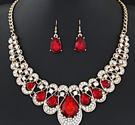 cheap -Women's Rhinestone Crystal Jewelry Set Include 1 Necklace Earrings - Fashion Sweet Crystal Alloy Geometric Drop Drop Earrings Bridal