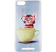 cheap -Case For Wiko U Feel Lite Pulp Fab 4G Pattern Back Cover Cat Soft TPU for Wiko U Feel Lite Wiko U Feel Wiko Sunny Wiko Robby Wiko Pulp